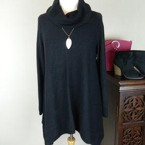 Relativity Soft & Cozy Black Tunic Sweater, L NWT